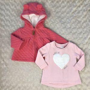 Carter's Baby Girl Bundle Sweatshirt Hooded 6M